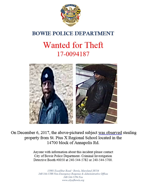 Information Wanted | Bowie, MD - Official Website