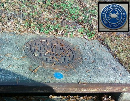 marked storm drain