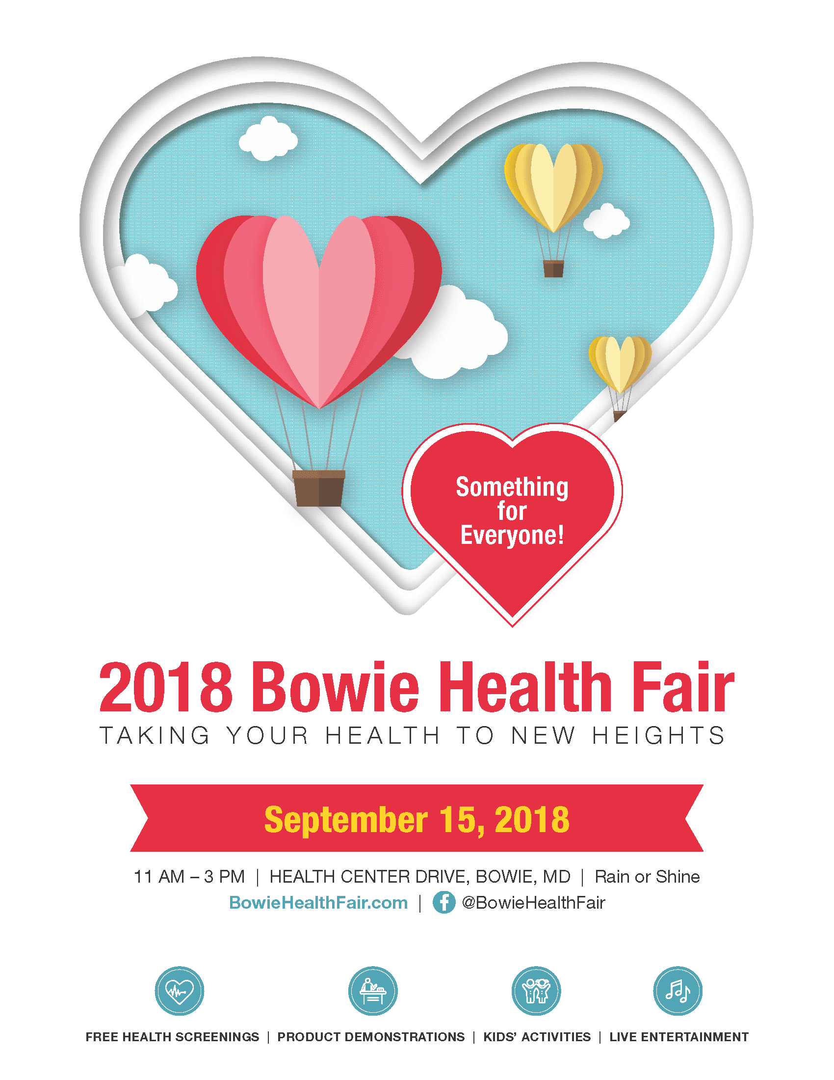 2018 Bowie Health Fair Flyer