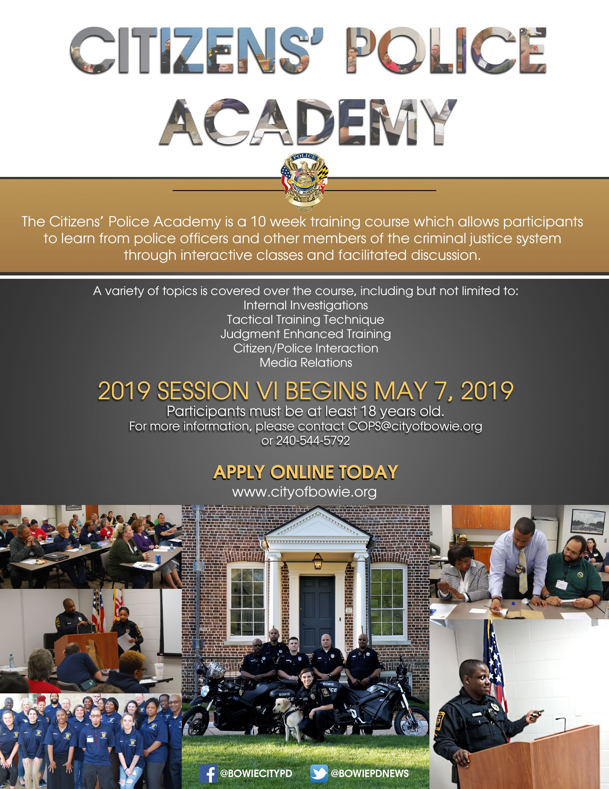 Citizens' Police Academy | Bowie, MD - Official Website