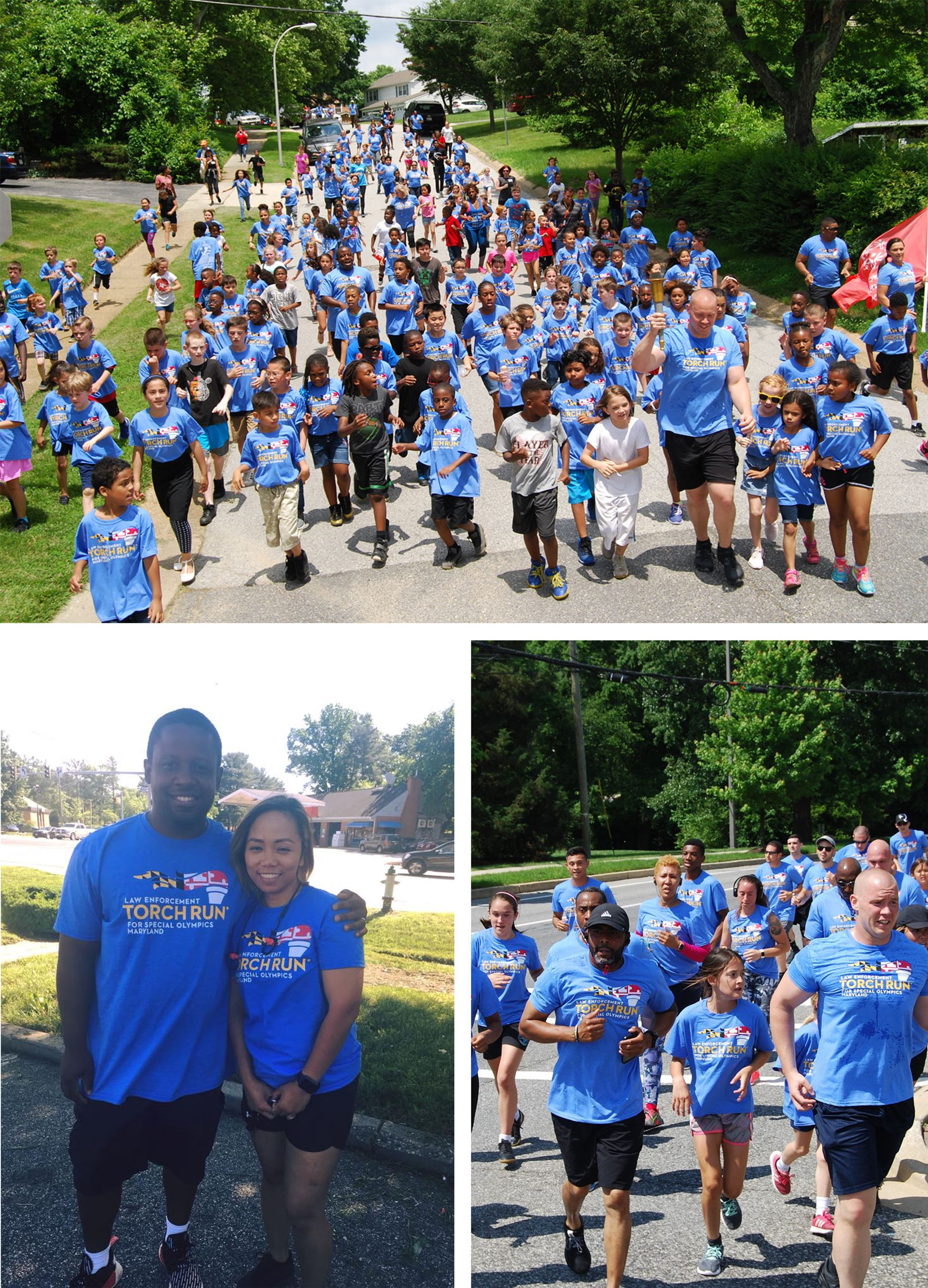 Torch Run Collage