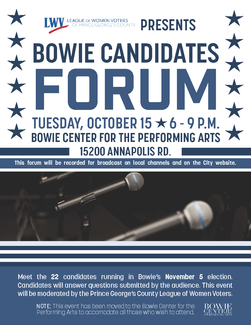 Candidate Forum Flyer October 2019